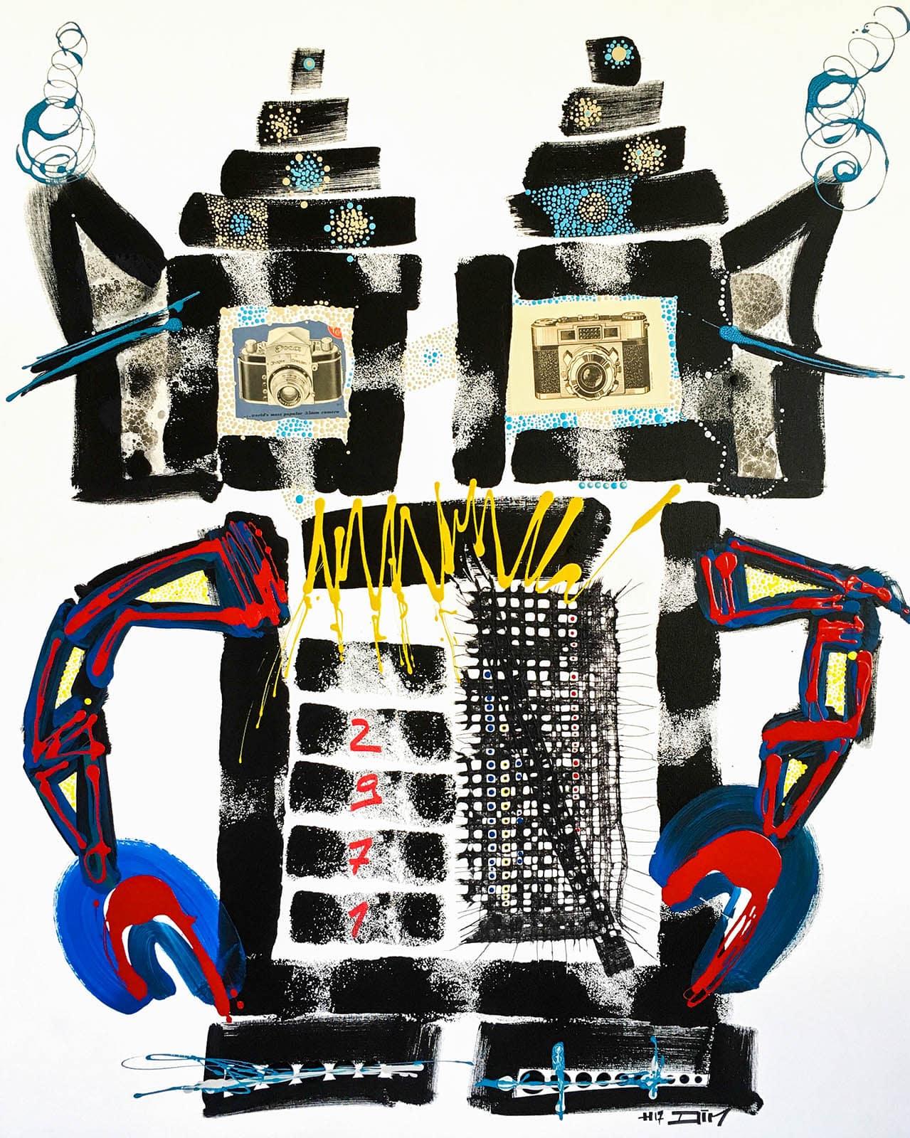 robot art gallery
